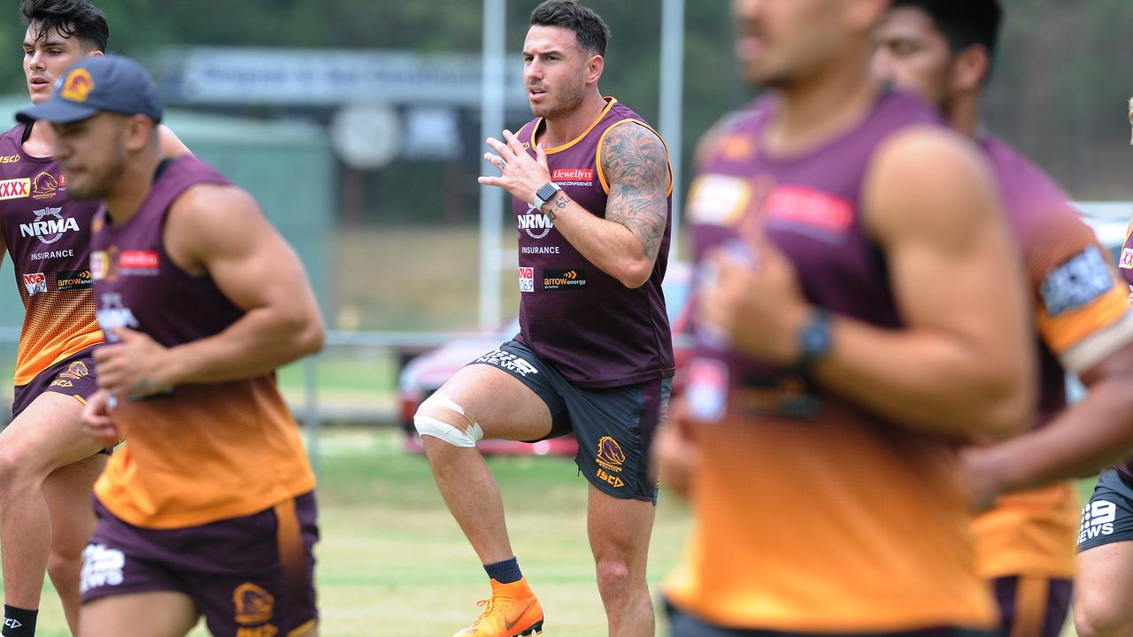 Broncos captain Darius Boyd slugs it out in the first session led by Anthony Seibold.