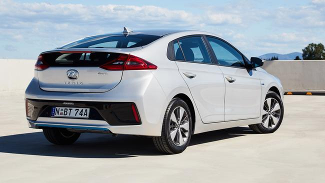 The fully-electric Ioniq has a real-world range of 230km.