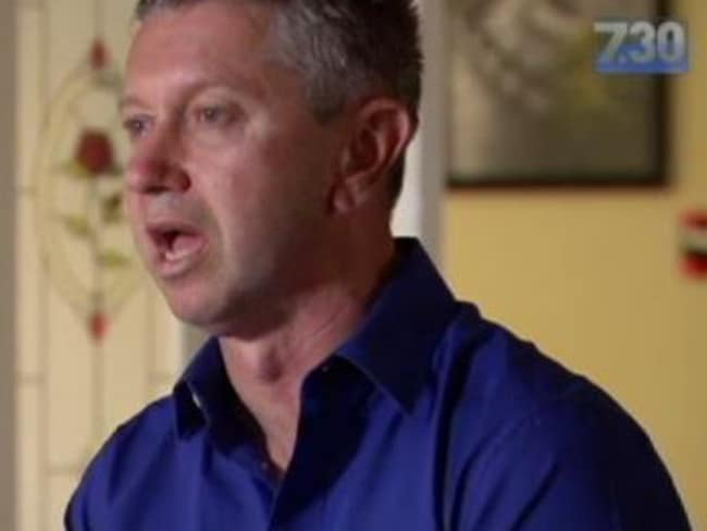 Mr Shane Aughterson appeared on ABC's 7.30 report, where he spoke of the horrific footage found on his son's phone.