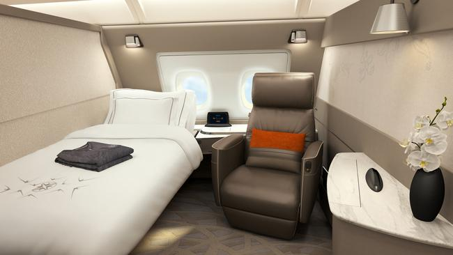 One of the six Singapore Airlines Suites A380. Picture: Singapore Airlines