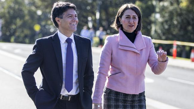 NSW Premier Gladys Berejiklian and Victor Dominello. Picture: Jenny Evans