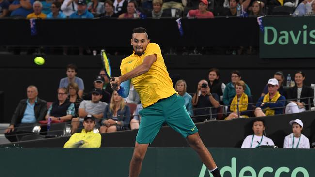 Kyrgios won in straight sets.