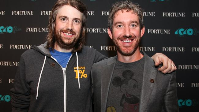 Mike Cannon-Brookes and Scott Farquhar lost $1 billion in one day. Picture: Kelly Sullivan/Getty Images for Fortune