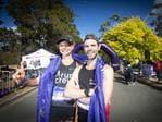 Record breaking winners of the 2020 Cadbury Marathon Katie Conlon and Nick Earl. Picture: LUKE BOWDEN