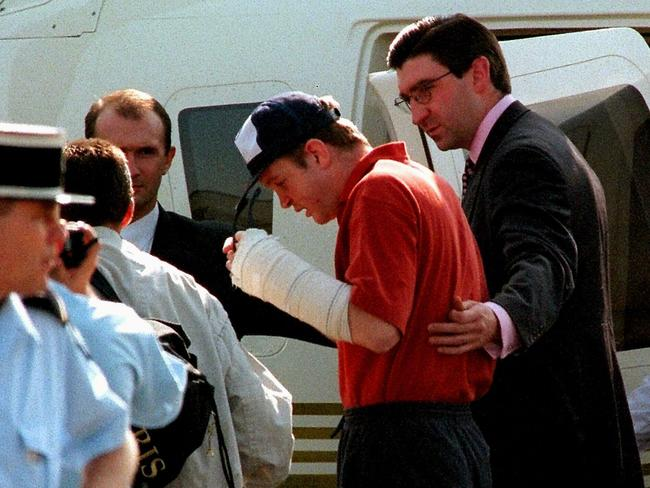 Mr Rees left hospital more than one month after the car crash that killed Princess Diana. Picture: Supplied.