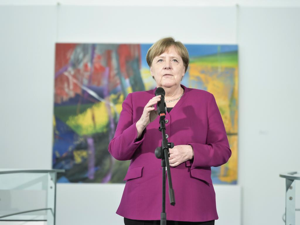 German Chancellor Angela Merkel refreshed warnings to stay safe after official data showed the infection rate picking up speed again. Picture: Getty Images