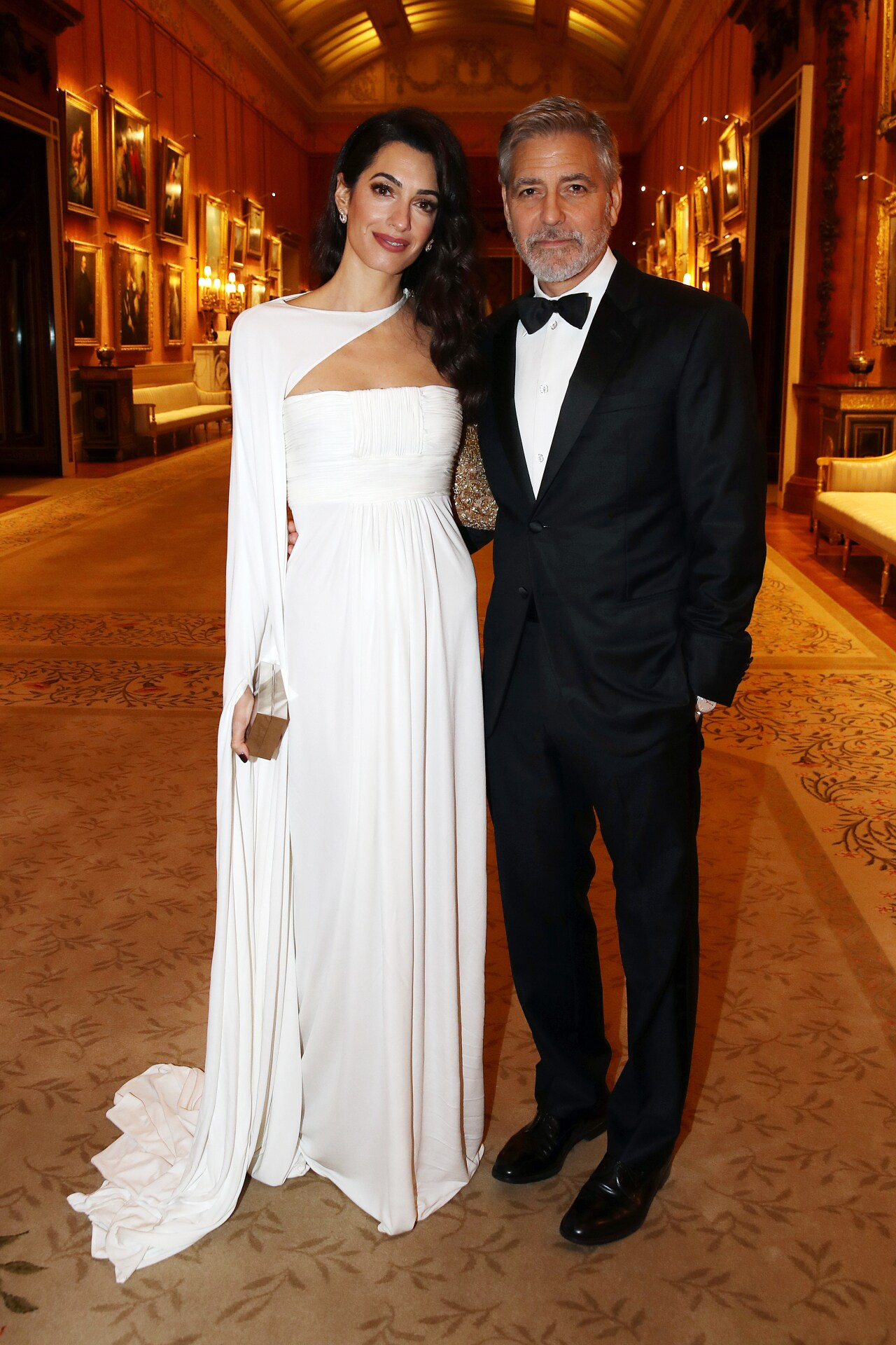 Amal Clooney had dinner at Buckingham Palace last night in a dress from 2006