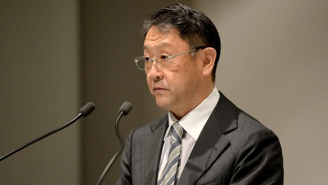 Toyota's global boss Akio Toyoda visited the Altona factory in August but spoke to employees via satellite link during the send-off ceremony yesterday. Picture: Supplied.