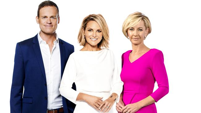 Tom Steinfort, Georgie Gardner and Deb Knight.