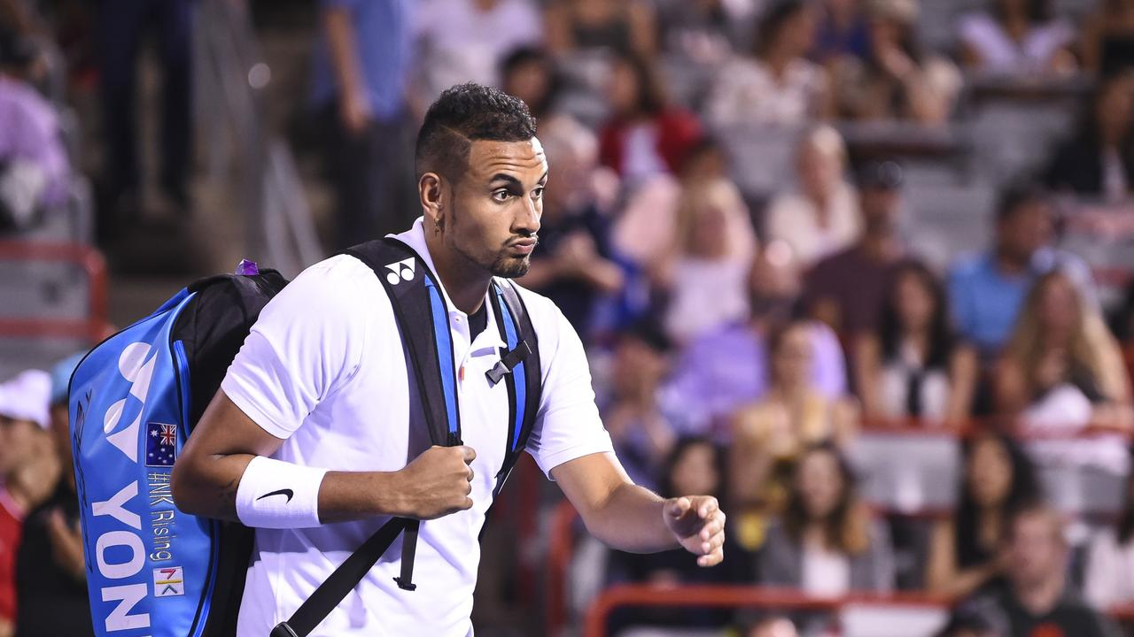 Nick Kyrgios has been hit with fines totalling $113,000 for his outburst at the Cininnati Masters.
