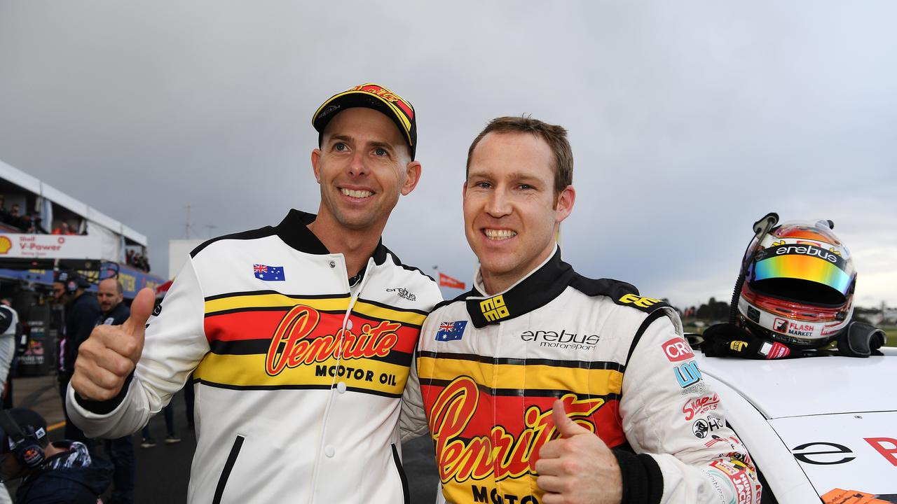 (L-R) Luke Youlden and David Reynolds took pole at Sandown last year. In 2019, Bathurst arrives first.