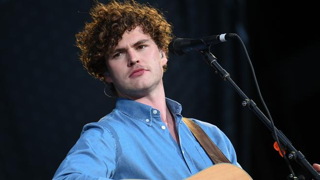 Brooding: Melbourne's Vance Joy is opening for Taylor Swift worldwide. Picture: Evan Agostini / Invision / AP