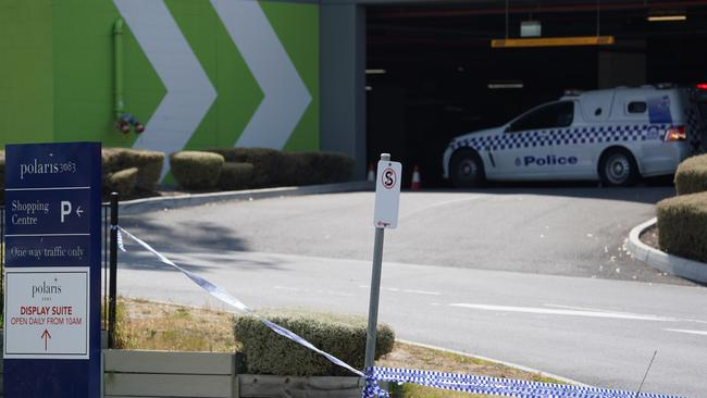 Dozens of police were at the shopping centre earlier on Wednesday. AAP Image/Stefan Postles