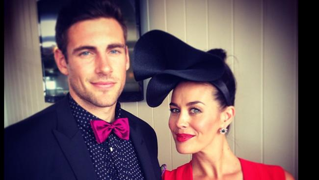 """Mum and Dad. Giddy Up: """"Thanks again to @calibreaustralia for suiting up my man #MelbourneCup"""" Picture: Instagram"""
