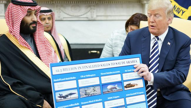 Saudi Arabia has joined the US in blaming Iran for the attacks. Picture: AFP