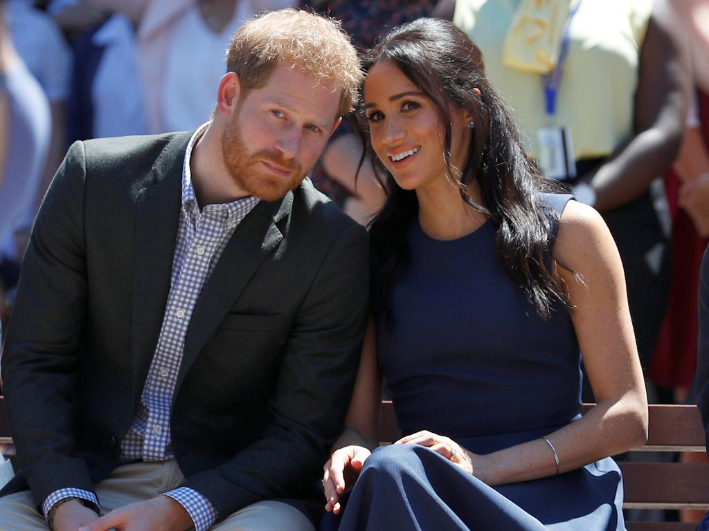 The royal blue dress had an expensive price tag of $2000. Picture: Phil Noble — Pool/Getty Images