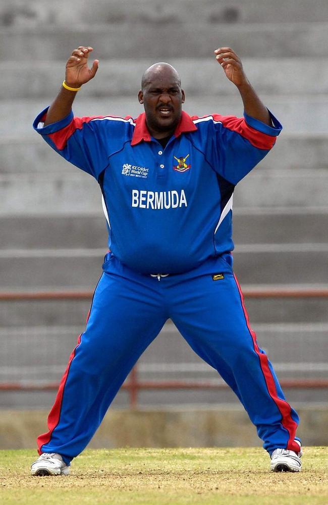 Bermuda's 270-pound (122-kilogram) spinner Dwayne Leverock.