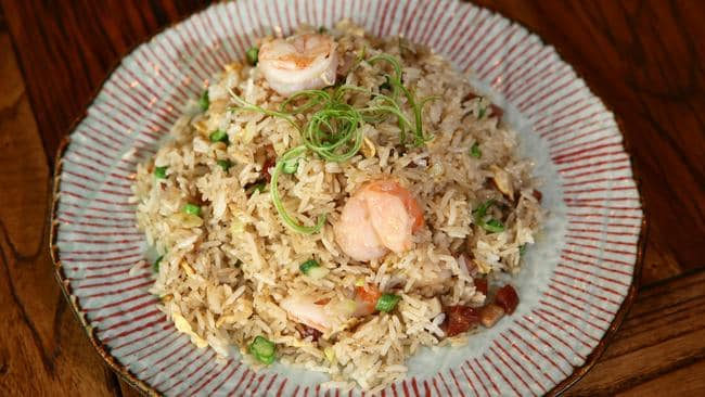 Yangzhou style fried rice with pork, prawn is similar to the special fried rice from the takeaway. Picture: Peter Clark