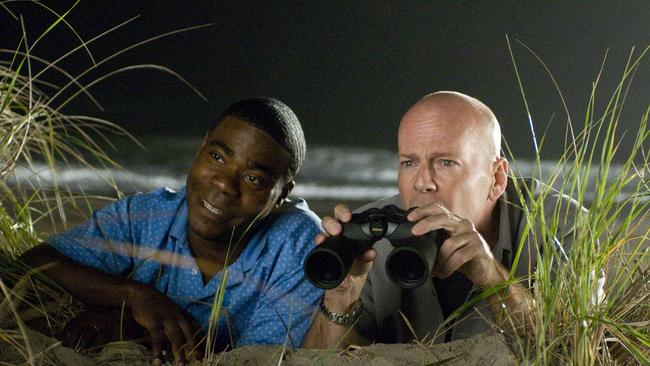 Bruce Willis and Tracy Morgan in the flop, Cop Out.