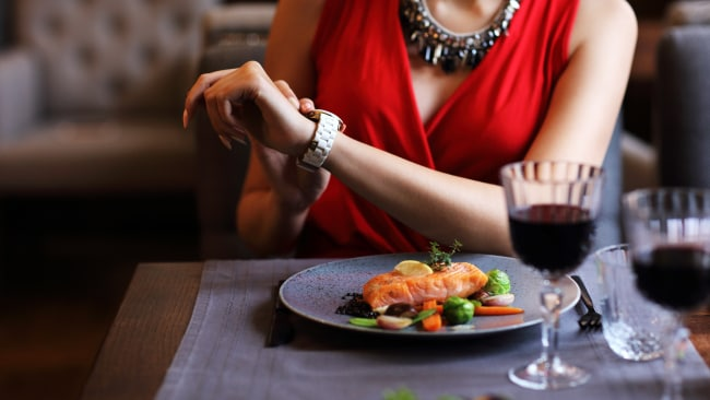 Sarah was too poor to dine out - she she started to sneat. Photo: iStock