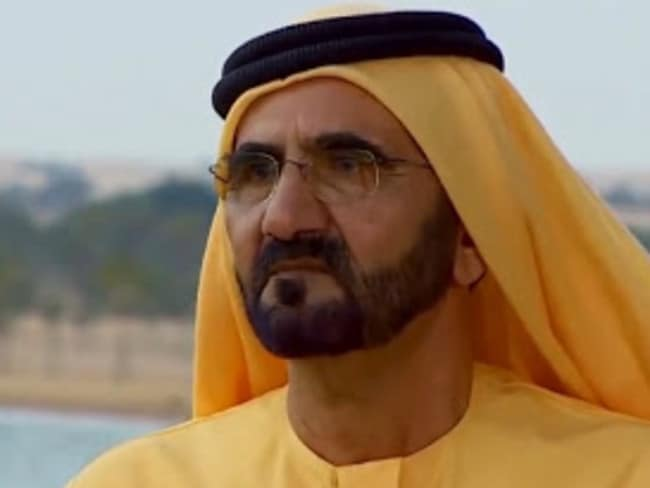 Dubai's ruler, and the princess' father, Sheikh Mohammed bin Rashid Al Maktoum.  <br />Picture: Channel 9 / 60 Minutes