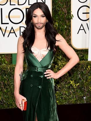 Euro vision in green ... musician Conchita Wurst. Picture: Getty Images