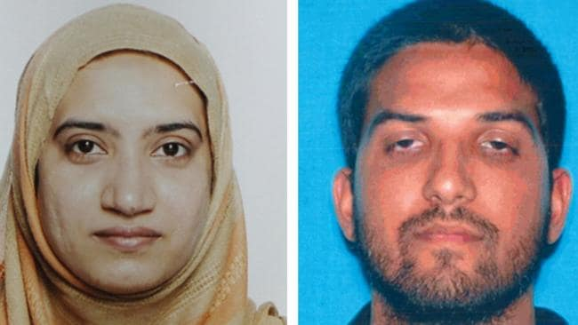 Tashfeen Malik, left, and Syed Farook, the husband and wife who allegedly carried out last week's massacre at a gathering of Farook's colleagues in San Bernardino, California.