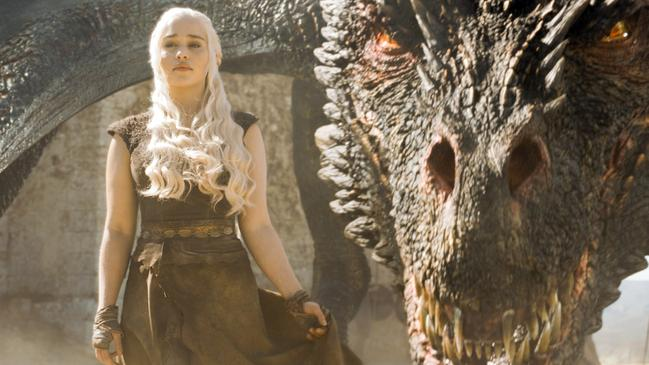Khaleesi and one of her dragons. Picture: HBO