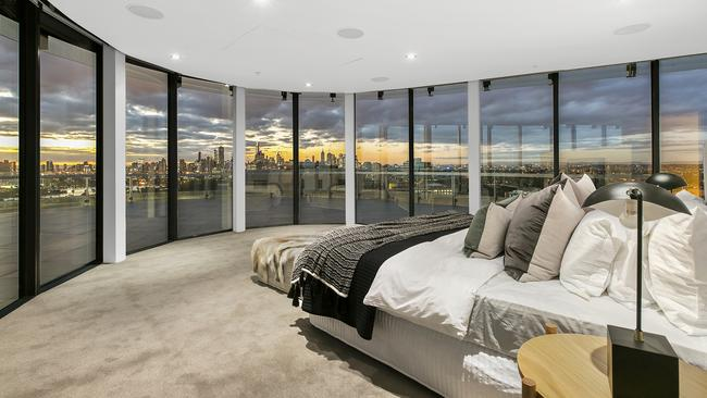 "The penthouse boasted ""the best master suite in all of Melbourne"", according to selling agent Ryan Fisher."