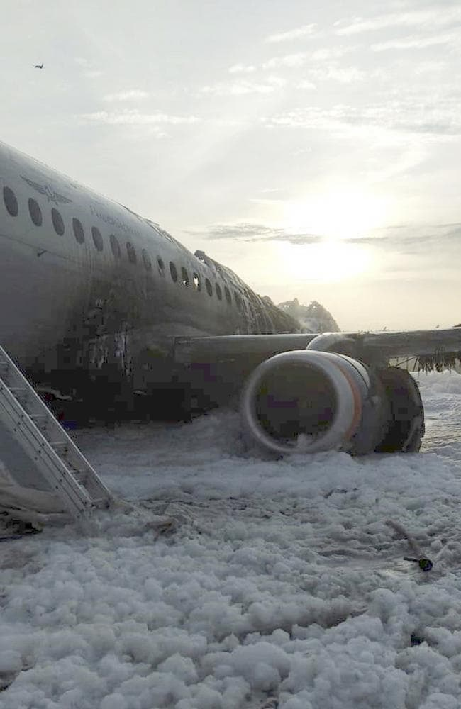 An investigation is underway into the exact cause of the accident. Picture: Moscow News Agency via AP