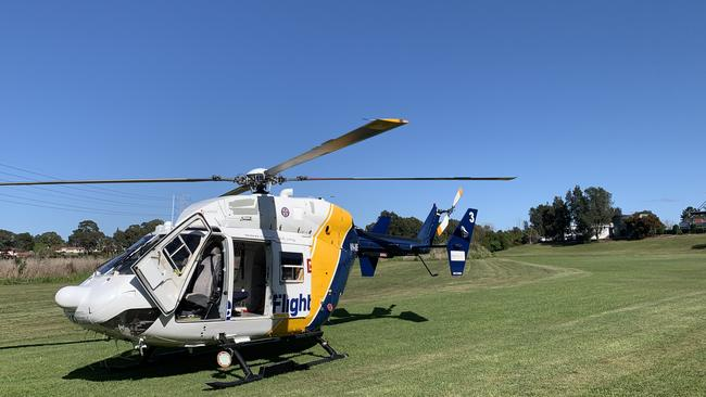 CareFlight's specialist doctor and critical care paramedic gave additional medical care