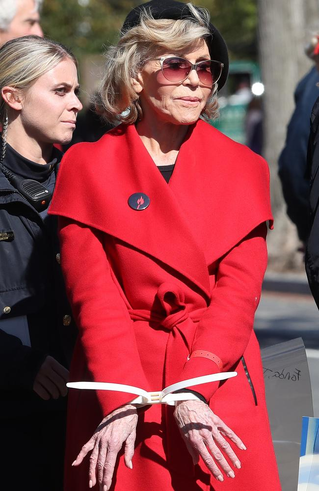 Screen icon Fonda has been arrested on several occasions. Picture: Getty Images.