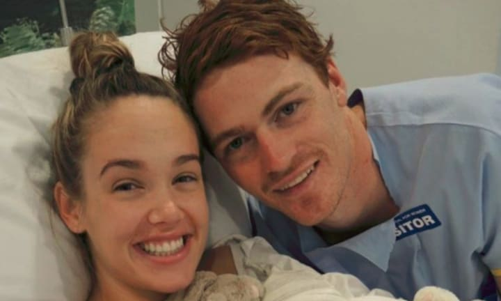 Sydney Swans star Gary Rohan shares heartbreaking photo of newborn twins