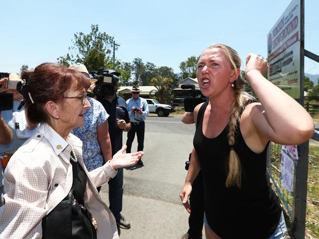 Ms Saffin stepped in after Ms O'Brien confronted Mr Albanese. Picture: Jason O'Brien/AAP