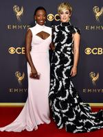 Samira Wiley and Lauren Morelli attend the 69th Annual Primetime Emmy Awards at Microsoft Theater on September 17, 2017 in Los Angeles. Picture: Getty