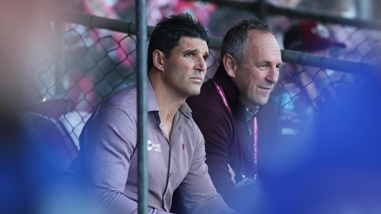 Manly coach Trent Barrett will leave the club at the end of the season.