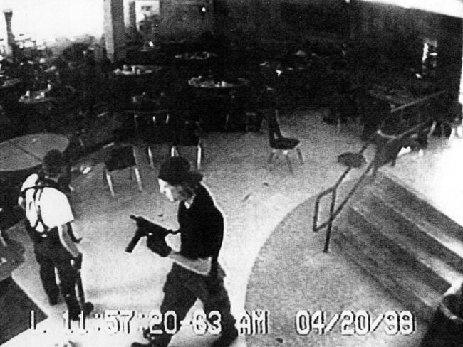 Alfred Dupree and Victoria McCurley were inspired by Columbine killers Eric Harris, left and Dylan Klebold, right. Picture: AP