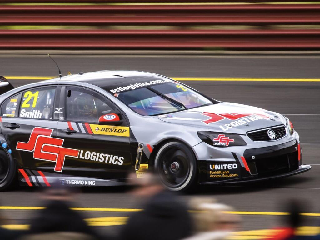 Smith drives at Sandown last weekend in the Super2 series.