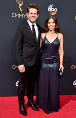 Ryan Piers Williams and America Ferrera attend the 68th Annual Primetime Emmy Awards on September 18, 2016 in Los Angeles, California. Picture: Getty