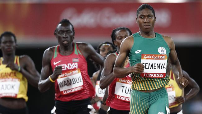 South Africa's Caster Semenya won the 800m final by almost 2 seconds. Picture: AFP Photo/Adrian Dennis