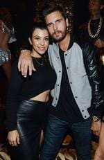 Kourtney Kardashian and Scott Disick celebrate Kim Kardashian's 33rd birthday at Tao Las Vegas on October 25, 2013 in Las Vegas. Picture: Getty