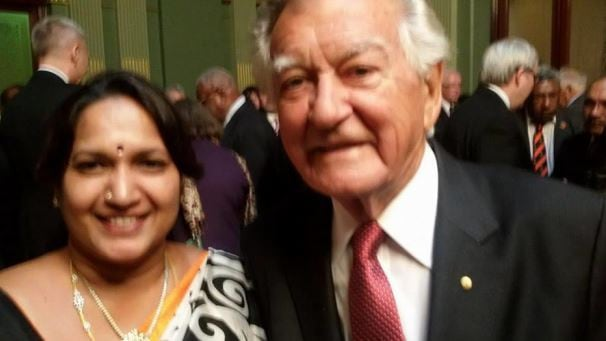 With Bob Hawke in 2014. Picture: Facebook
