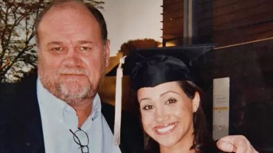 Thomas Markle with his daughter, Meghan the Duchess of Sussex. Picture: The Sun.