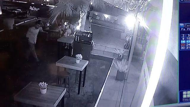 Security Camera Shows Earthquake Rattle Bodrum Hotel. Credit - Galen Hotel & Beach via Storyful