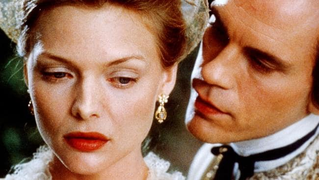 Michelle Pfeiffer has been nominated for three Oscars, including for her role alongside John Malkovich in Dangerous Liaisons.