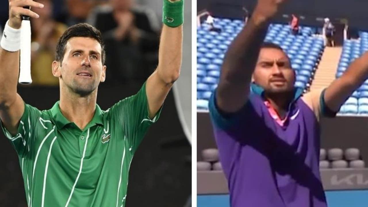 Kyrgios mocks Novak's trademark celebration