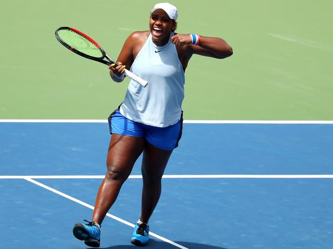 Taylor Townsend is loving life.