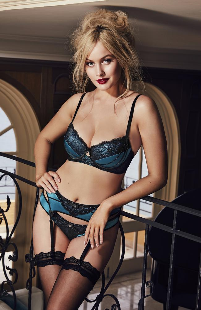 Holtznagel is the new face of Bras N Things' exclusive Vamp lingerie collection. Supplied.