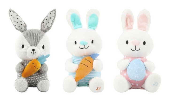 <b>8. PLUSH TOYS, $9-$15.</b> This is a sweet idea for the little ones that may not be old enough for chocolate this year. Kmart has this cute little grey woven bunny for just $9, or the pink/blue bunnies are selling for $15.