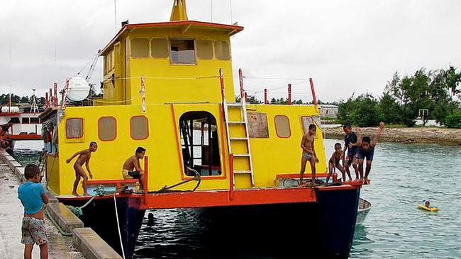 The doomed ferry, the MV Butiraoi, that sank off Kiribati killing 95 people. Picture: AFP.
